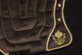 Pearl-Schabracken-Manufaktur-Barockschabracke-Barocksattel-Schabracke-Bestickung-Braun-Gold-individuell-bestickt-individuell-gefertigt-massgeschneidert-1-1-scaled-e1605792686283