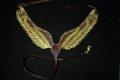 Pearl-Schabracken-Manufaktur-Vorderzeug-Breast-collar-Show-Zaum-Show-Vorderzeug-Fluegel-Leder-Pegasus-Wings-Schabracke-Braun-Gold-Glitzer-3-scaled-e1609330313344